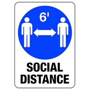 Social Distancing 6' with Directional Arrows-signs-Pro Property Supply