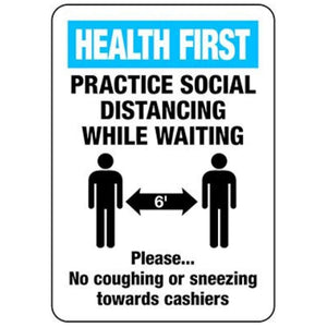 signs Social Distancing Health First Sign Pro Property Supply