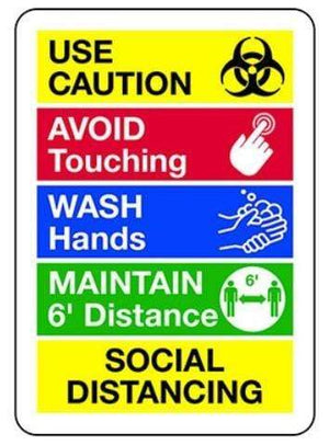 signs Social Distancing Use Caution Sign Pro Property Supply