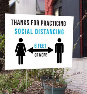signs Thanks for Practicing Social Distancing Sign Pro Property Supply