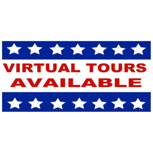 signs Virtual Tours Available Bandit Yard Sign - 18