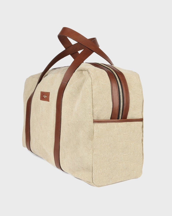 Chelsea Beige Duffle Bag - Life in Paradigm Menswear London