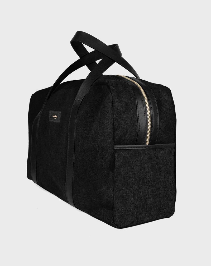 Montague Black Duffle Travel Bag - Life in Paradigm Menswear London