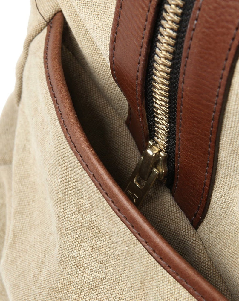 Montague Beige Duffle Bag - Life in Paradigm Menswear London