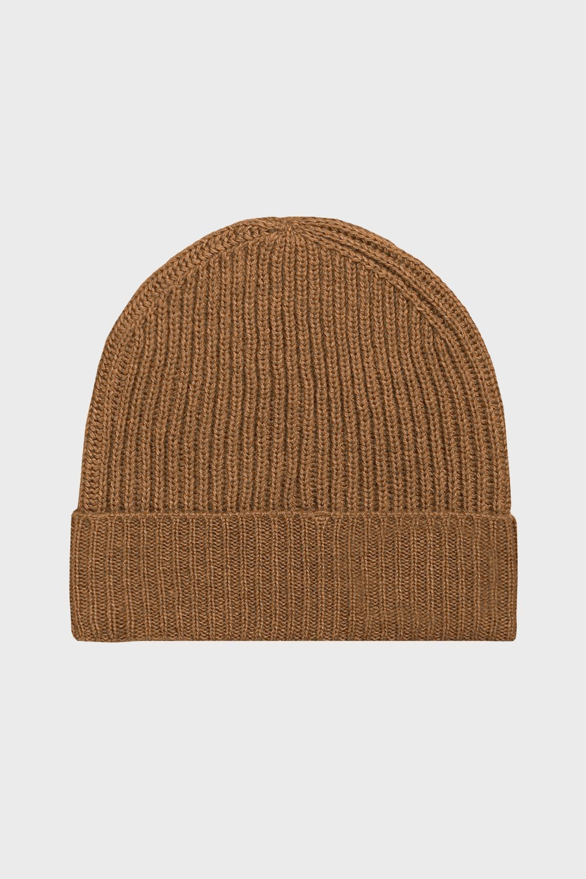 Tobacco Merino Wool Beanie - Life in Paradigm Menswear London
