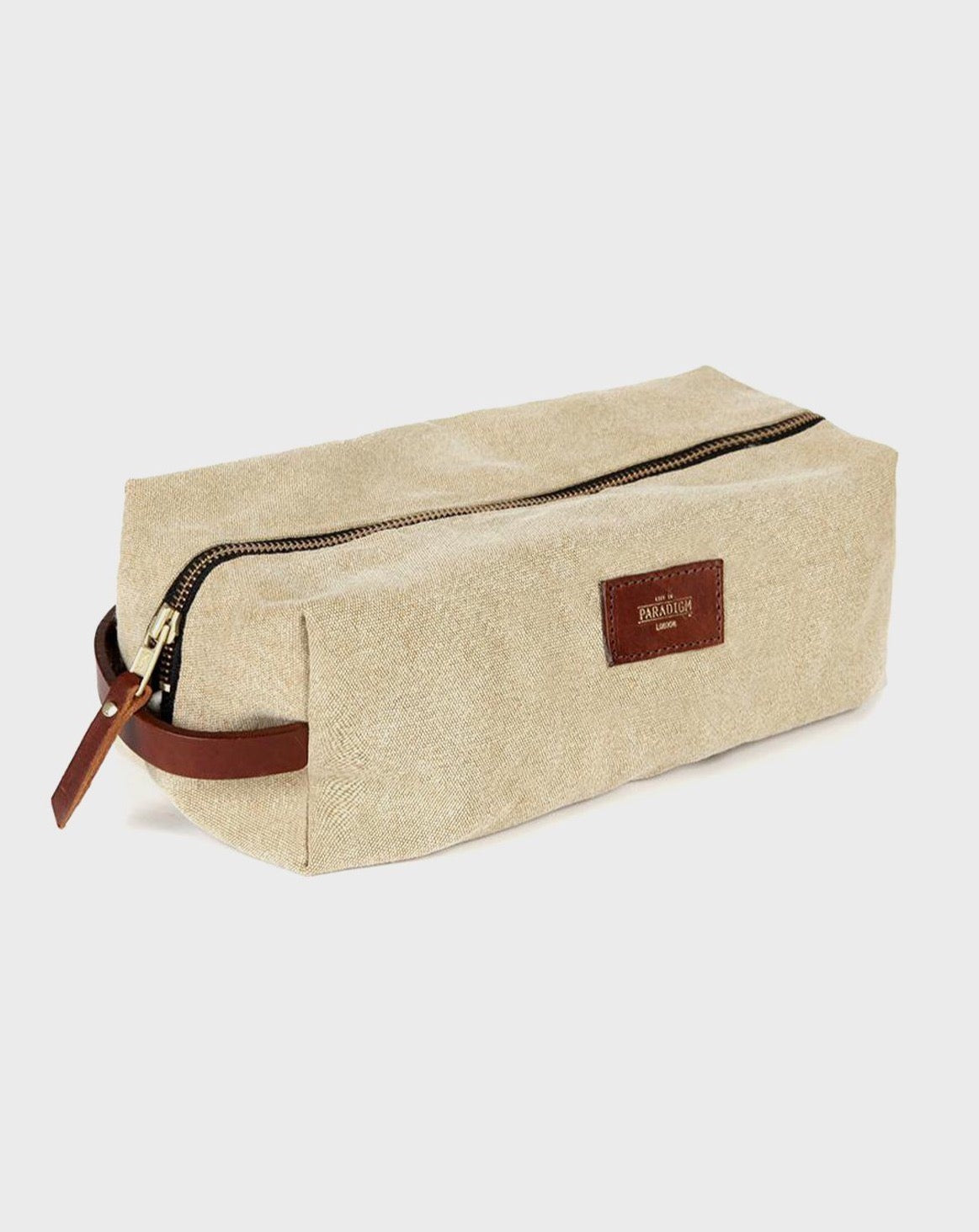 Montague Beige Travel Wash Bag - Life in Paradigm Menswear London