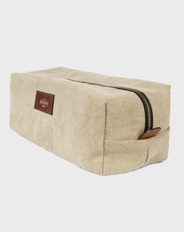 Chelsea Beige Travel Wash Bag - Life in Paradigm Menswear London