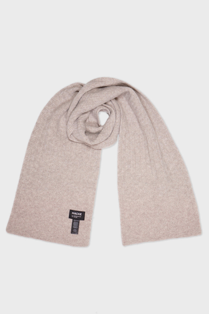 Beige Cobble Scottish Wool Scarf - Life in Paradigm Menswear London