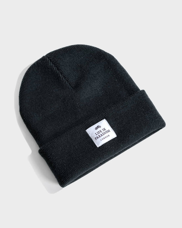 Black Islington Beanie - Life in Paradigm Menswear London