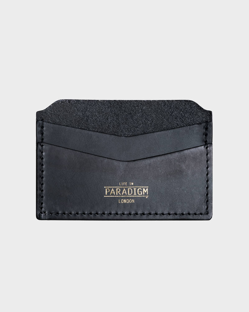 Brooke Black Leather Card Holder - Life in Paradigm Menswear London