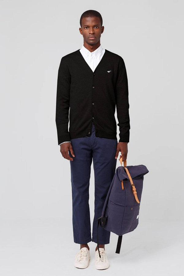 Black Duck Patch Cardigan - Life in Paradigm Menswear London