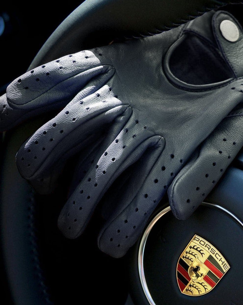 Black Leather Driving Gloves - Life in Paradigm Menswear London