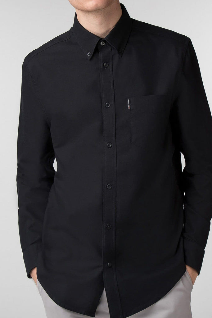 Black Long Sleeve Oxford Shirt - Life in Paradigm
