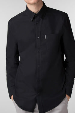 Black Long Sleeve Oxford Shirt - Ben Sherman