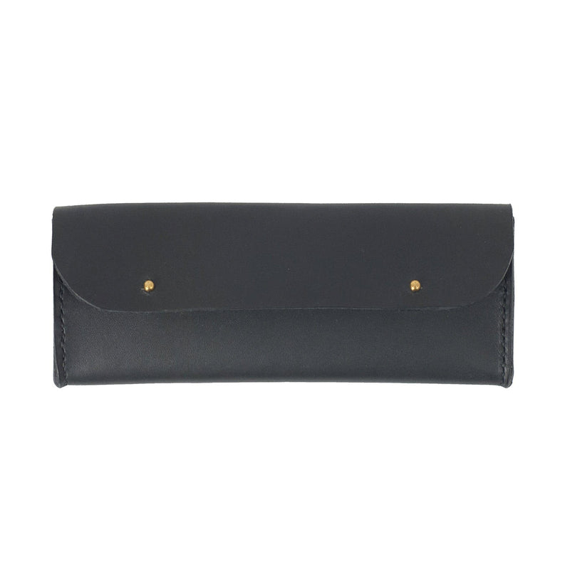 Black Leather Sunglasses Case - Kaykgoods