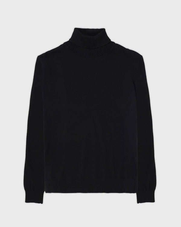 Black Turtle Neck Jumper - Life in Paradigm Menswear London
