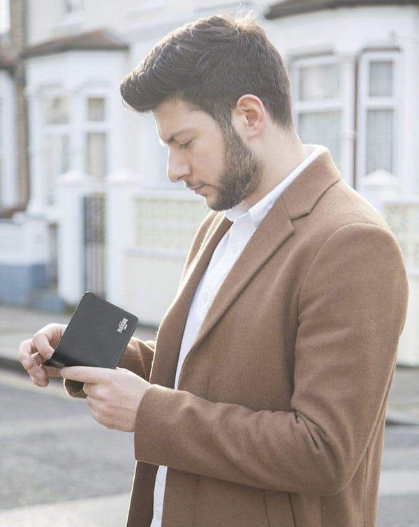 Black Leather Wallet - Life in Paradigm Menswear London