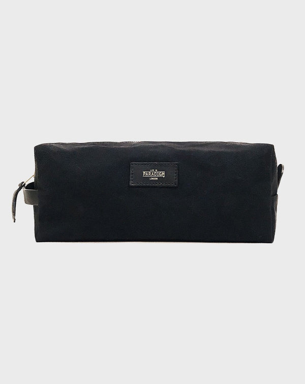 Montague Black Travel Wash Bag - Life in Paradigm Menswear London