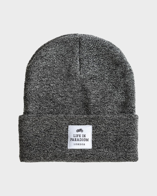 Black & White Islington Beanie - Life in Paradigm Menswear London