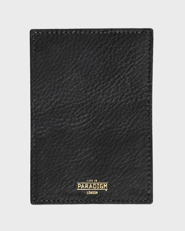 Rectory Black Leather Folding Cardholder - Life in Paradigm Menswear London