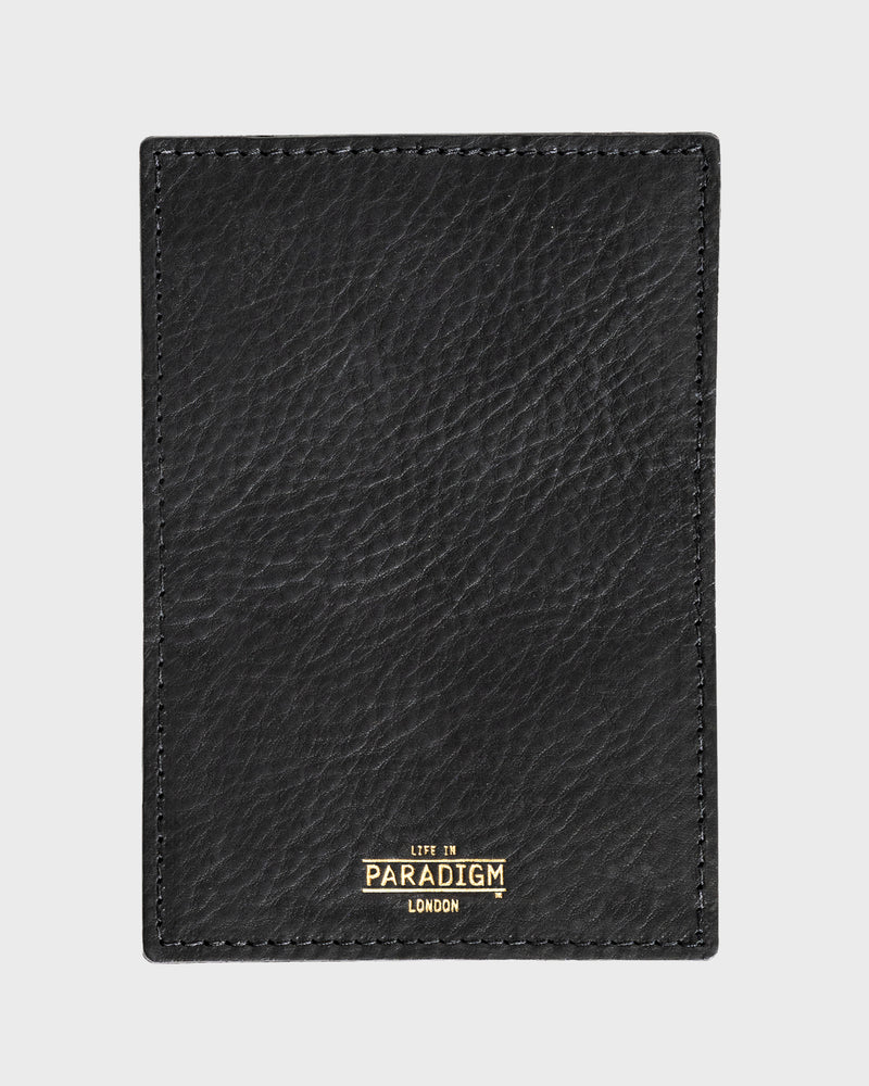 Rectory Black Leather Folding Card Holder - Life in Paradigm Menswear London