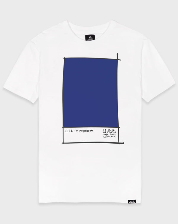 Blue Colour Swatch T-shirt - Life in Paradigm Menswear London