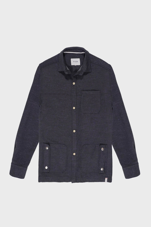 Blue Speckled Over Shirt - Life in Paradigm Menswear London