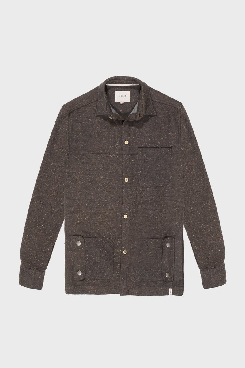 Brown & Oatmeal Speckled Over shirt - Life in Paradigm
