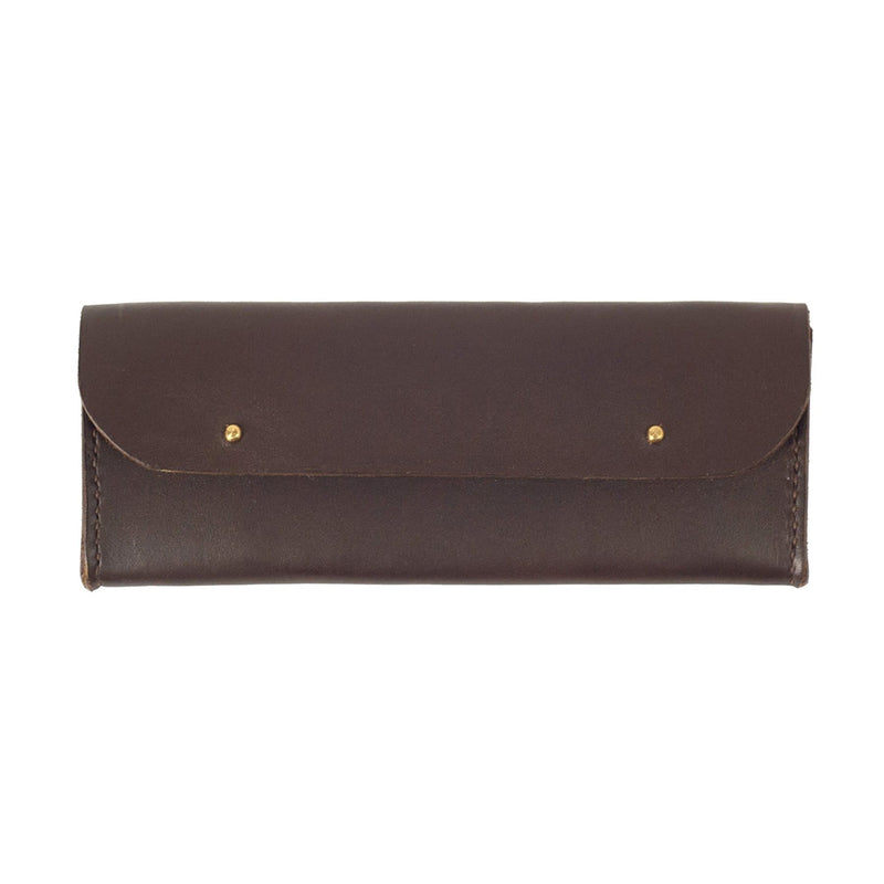 Brown Leather Sunglasses Case - Kaykgoods