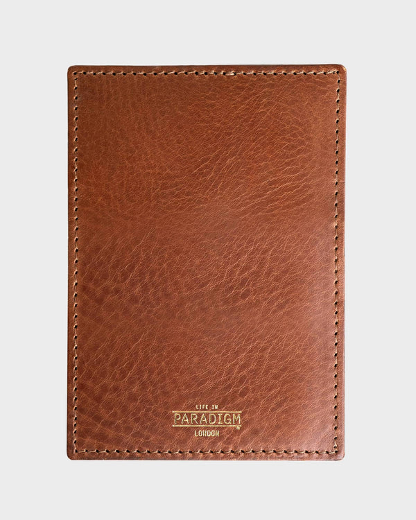 Rectory Brown Leather Folding Cardholder - Life in Paradigm Menswear London