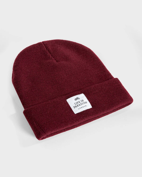 Burgundy Islington Beanie - Life in Paradigm Menswear London