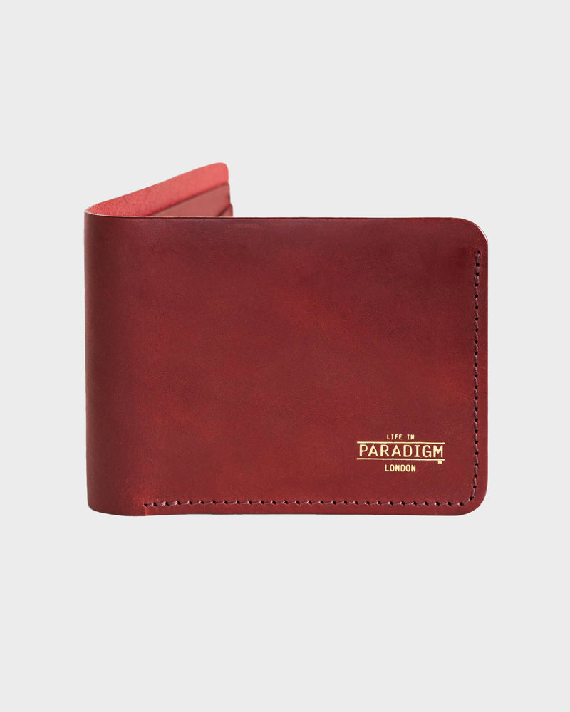 Burgundy Leather Wallet - Life in Paradigm Menswear London