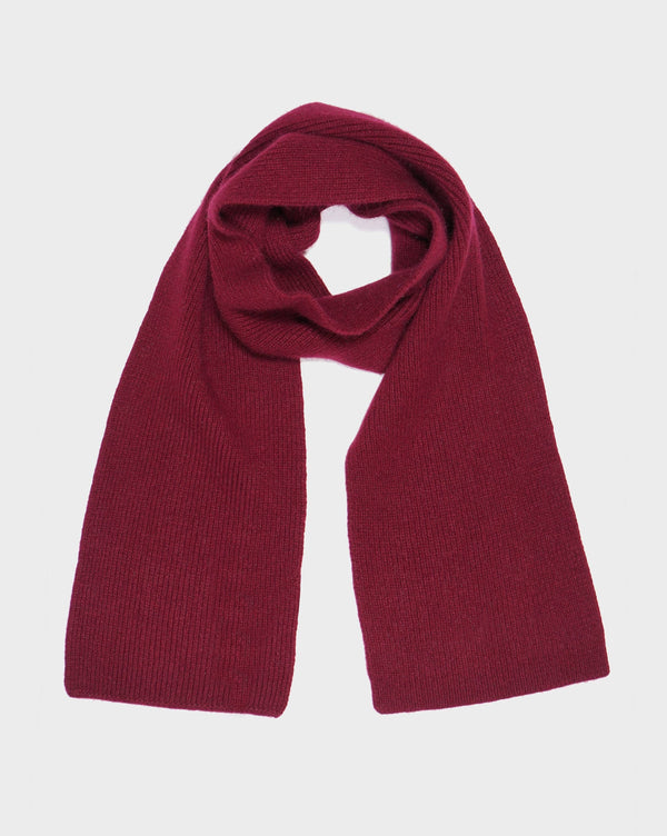 Burgundy Highland Wool Scarf - Life in Paradigm Menswear London