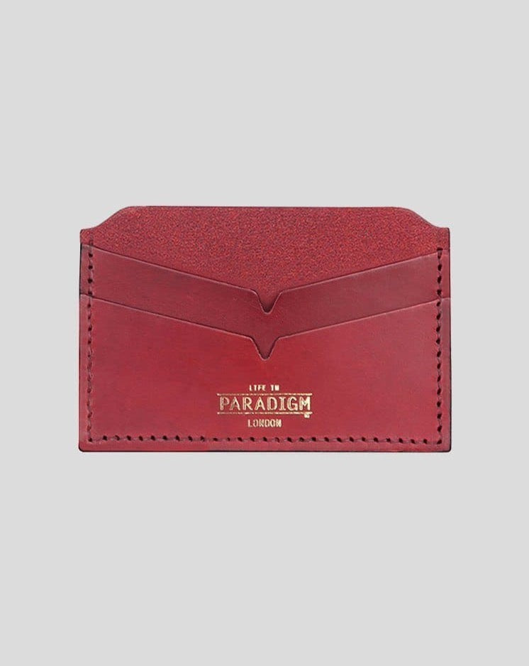 Brooke Burgundy Leather Cardholder - Life In Paradigm