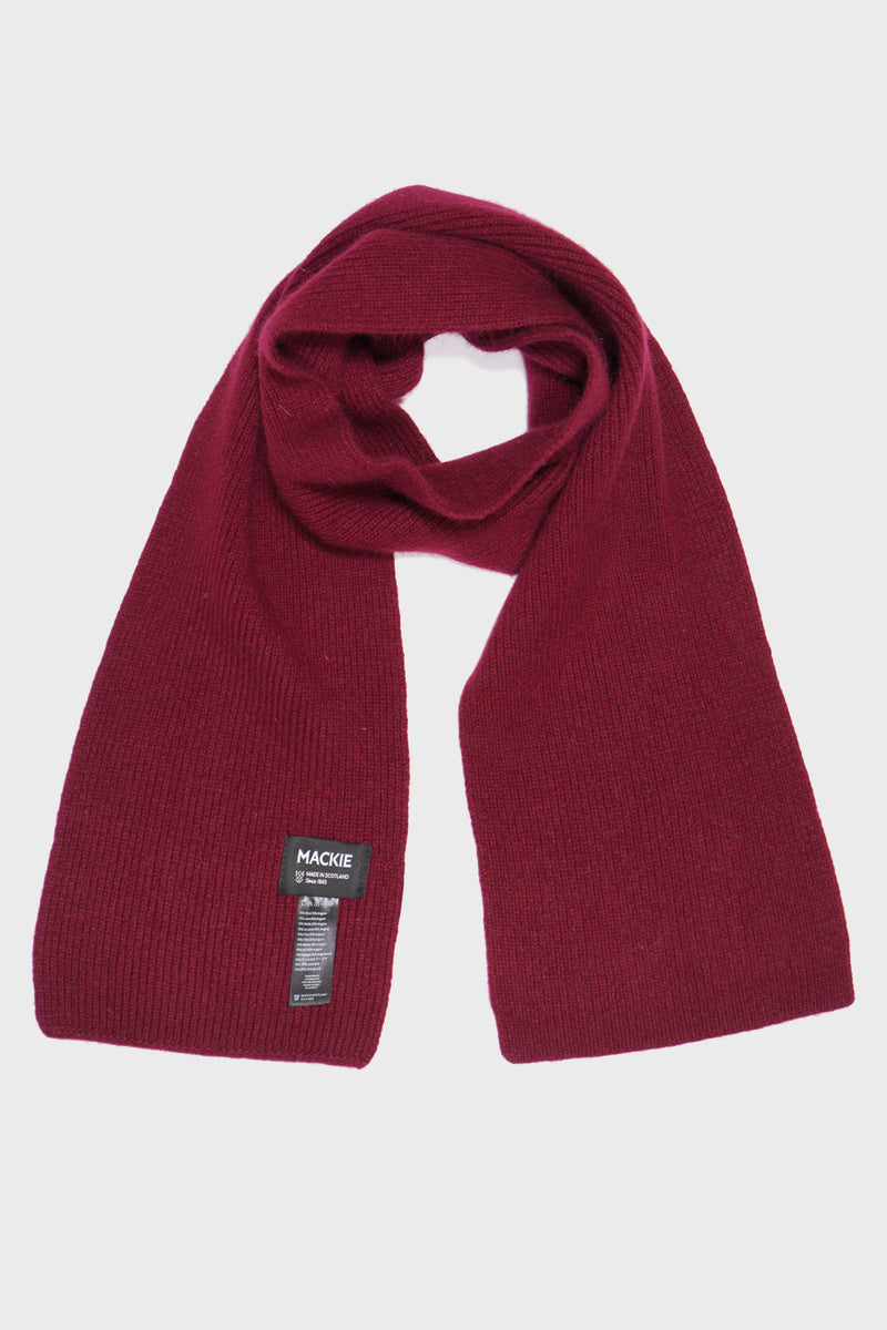 Bordeaux Red Scottish Wool Scarf - Life in Paradigm Menswear London