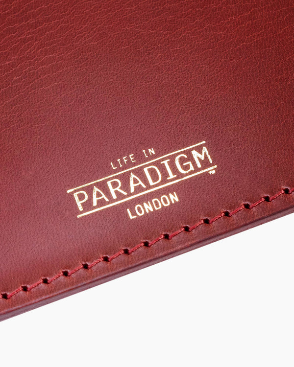 Rectory Burgundy Leather Folding Cardholder - Life in Paradigm Menswear London