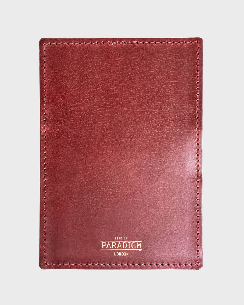 Rectory Burgundy Leather Folding Card Holder - Life in Paradigm Menswear London