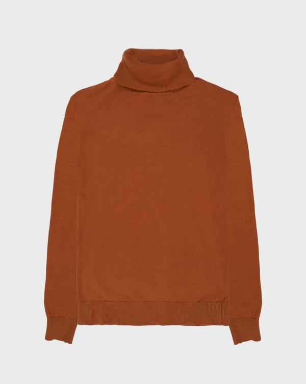 Burnt Tobacco Turtle Neck Jumper - Life in Paradigm Menswear London