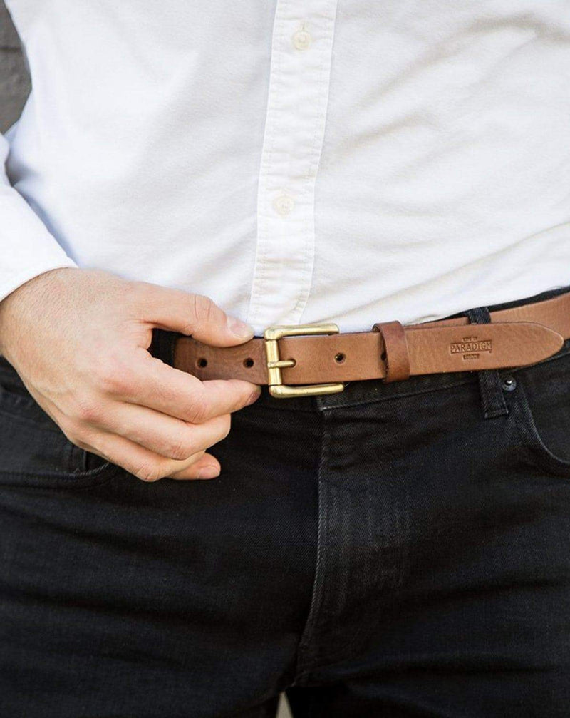 Church Street Brown Leather Belt - Life in Paradigm Menswear London