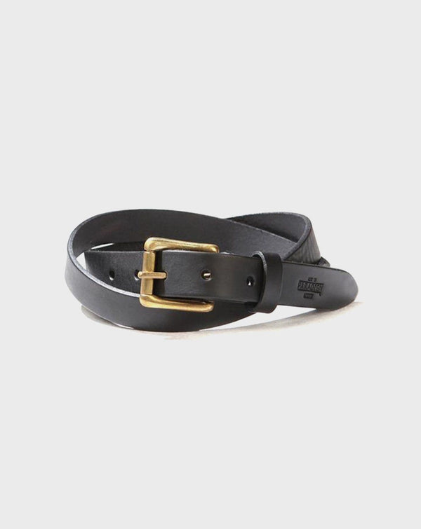 Church Street Black Leather Belt - Life in Paradigm Menswear London