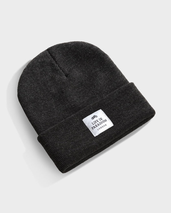 Carbon Grey Islington Beanie - Life in Paradigm Menswear London