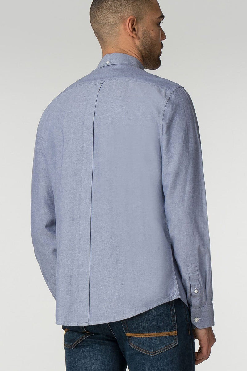 Chambray Long Sleeve Oxford Shirt - Life in Paradigm Menswear London