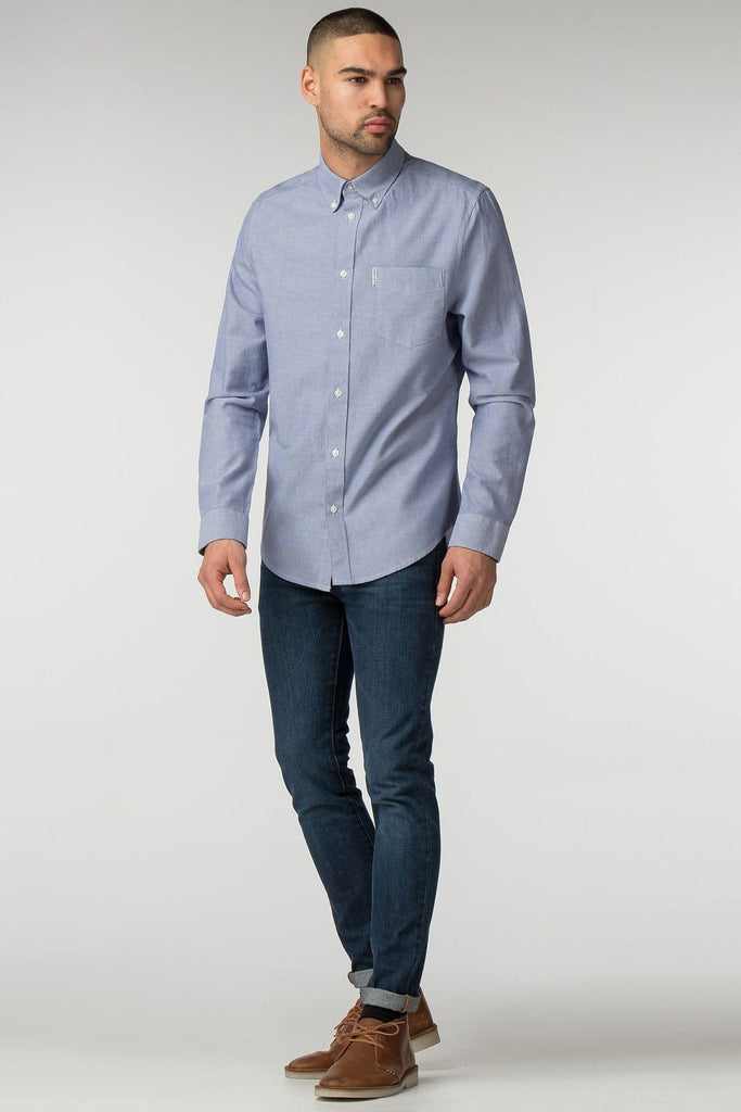 Chambray Long Sleeve Oxford Shirt - Life in Paradigm