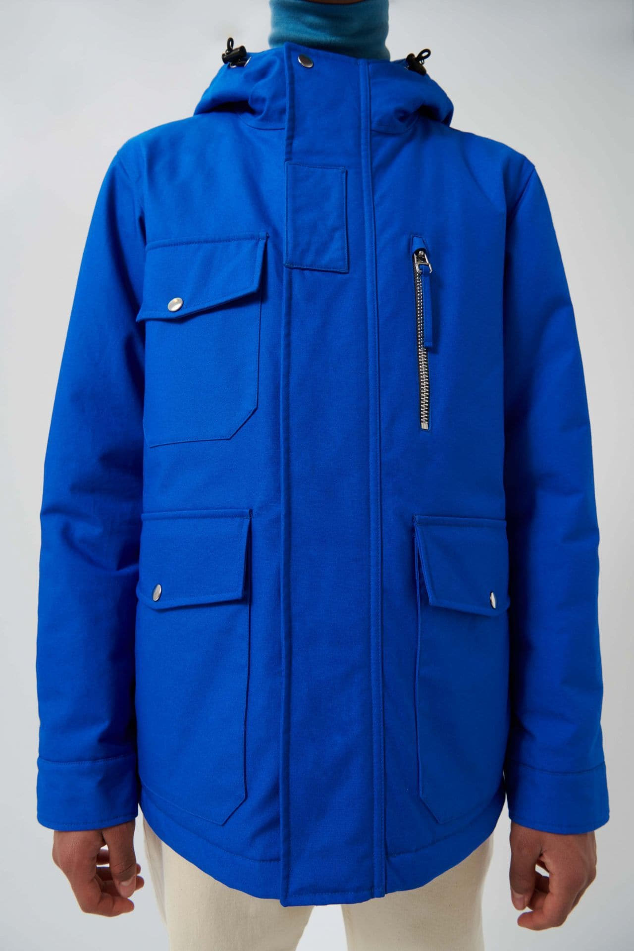 classic Blue Ski Jacket - Life in Paradigm Menswear London