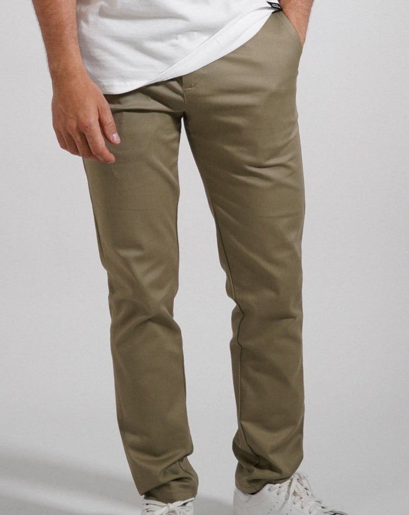 Khaki Stokey Chino - Life in Paradigm Menswear London