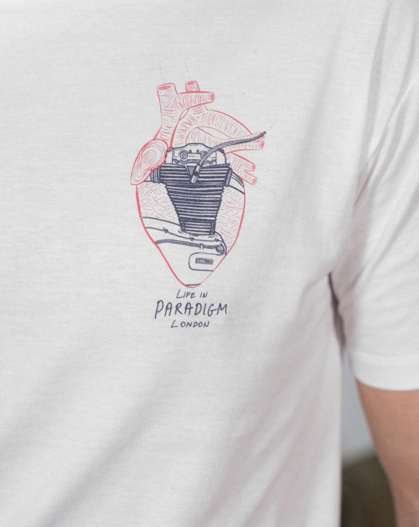 Heart of an engine T-shirt - Life in Paradigm Menswear London