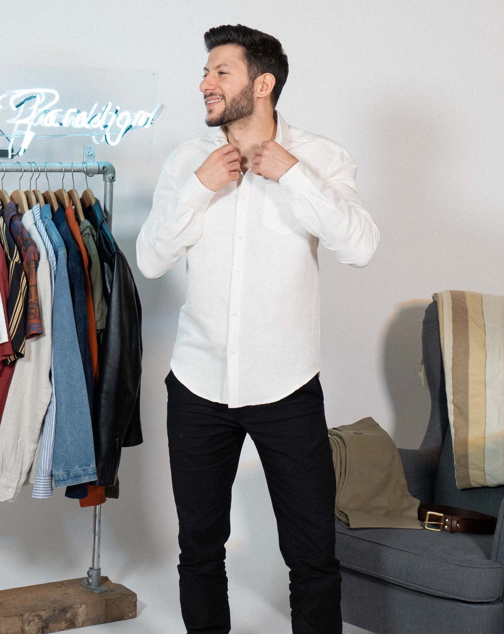 White Oxford Shirt - Life in Paradigm Menswear London