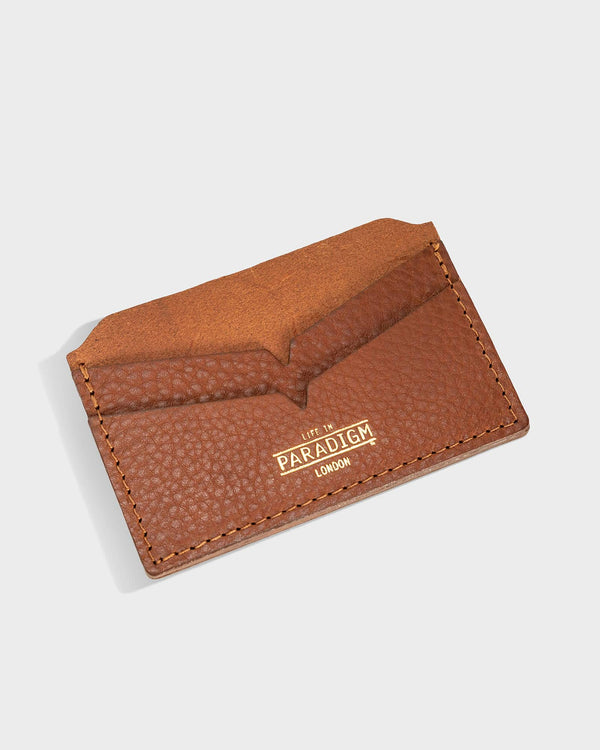 Brooke Brown Leather Cardholder - Life in Paradigm Menswear London