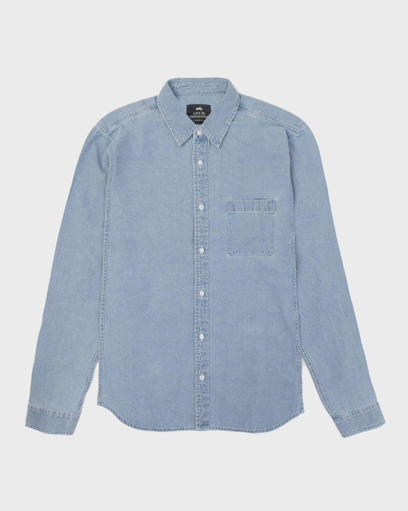Denim Shirt - Life in Paradigm Menswear London
