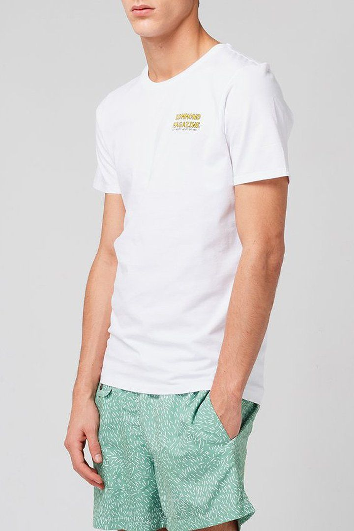White Surf T-shirt - Life in Paradigm Menswear London